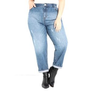 2/$25 ELOQUII Elements Distressed Mom Jeans